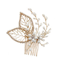 'Wendy' Golden Bridal Hair Comb