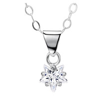 Sparkly Clear CZ Star Pendant