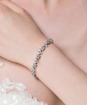 'Florence' Crystal Flower Bracelet