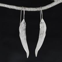 Sterling Silver Willow Tree Leaf Earrings