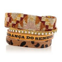 Gold 'Leopard' Print Bracelet Hipanema