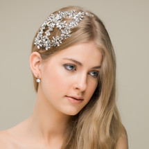 'Anne' Crystal and Pearl Statement Side Headband