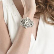 'Darcey' Hand-Stitched Bridal Cuff