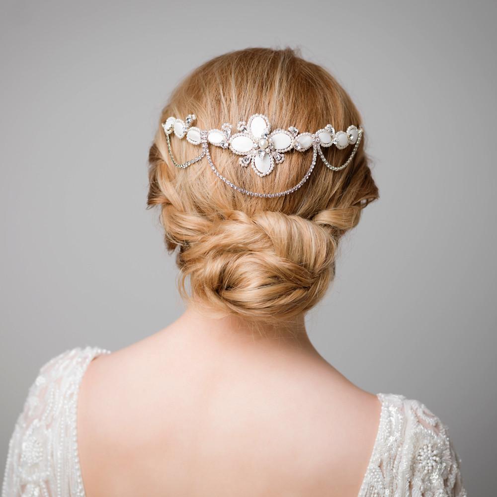 U0026#39;Lenau0026#39; Art Deco Pearl Hair Comb | Handmade Bridal Hair Accessories | Michelle Corringham | Lily ...