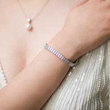 'Arya' Square Cut Crystal Bracelet