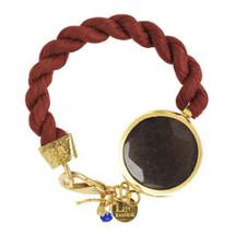 Lite Velvet - Grey Jade Stone Bracelet