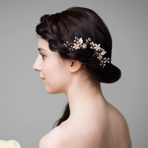 U0026#39;Genevieveu0026#39; Hair Pins | Handmade Bridal Accessories | Lily Luna Edinburgh Scotland