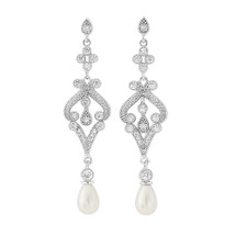'Elspeth' Art Deco Pearl Earrings