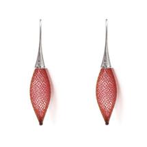 VLUM - Épineuses Red and Silver Earrings