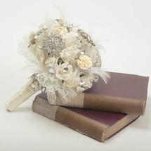feather art deco vintage brooch flower bouquet