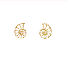 Catherine Weitzman - 18K Gold Vermeil Mini Nautilus Stud Earrings