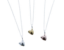 Reeves & Reeves - Dainty Sterling Silver Devotion Heart Necklace