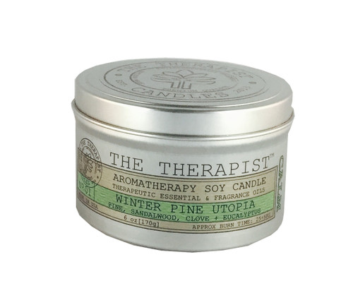 No. 01 Winter Pine Utopia Soy Candle - Travel Tin 6 oz
