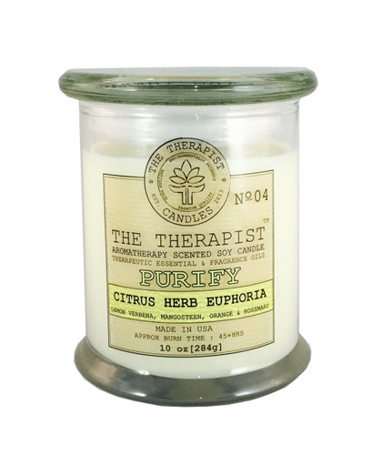 Citrus herb Euphoria artisan soy candle Made with essential oils, premium fragrances, scented soy candle