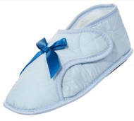 Edema Velcro® Brand Ladies Solid Booties (Medium 6.5-7.5, Light Blue)
