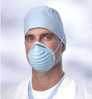 Blue Disposable Molded Face Masks (Pack of 50)