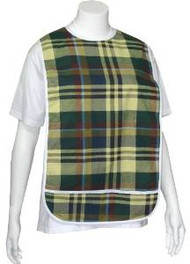 Adult Vinyl Adult Bibs with Crumb Catcher - Premium Bib (Scottish plaid with ...