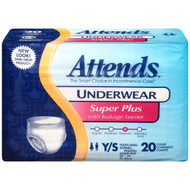 Attends Super Plus Absorbency Protective Underwear size Youth/Small