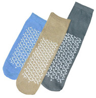 Slipper Socks - Pack of 48 Pairs (L, Grey)