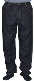 100% Cotton 5 Pocket Full Elastic Jeans - Black (Inseam 28-29 / Waist 42)