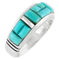 Sterling Silver Ring Turquoise R2025-C55