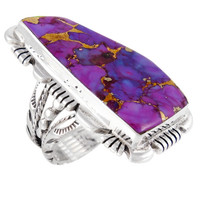 Sterling Silver Ring Purple Turquoise R2032-C77