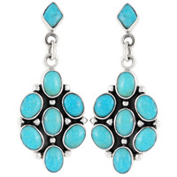 Sterling Silver Earrings Turquoise E1095-C75