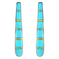 Sterling Silver Earrings Turquoise E1031-C21