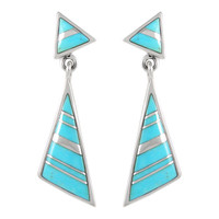 Sterling Silver Earrings Turquoise E1050-C05