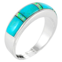 Sterling Silver Ring Turquoise R2244-C21