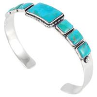Sterling Silver Bracelet Turquoise B5495-C75