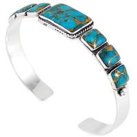 Sterling Silver Bracelet Turquoise B5495-C84