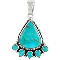 Sterling Silver Pendant Turquoise P3080-C75