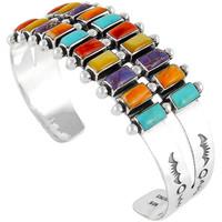 Sterling Silver Bracelet Multi Gemstone B5500-C71