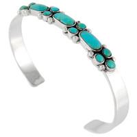 Sterling Silver Flower Bracelet Turquoise B5504-C75