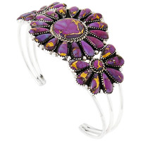 Sterling Silver Bracelet Purple Turquoise B5523-C77