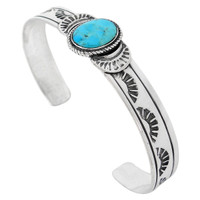 Sterling Silver Bracelet Turquoise B5525-C75