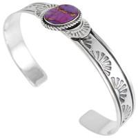 Sterling Silver Bracelet Purple Turquoise B5525-C77