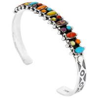 Sterling Silver Bracelet Multi Gemstone B5528-C71