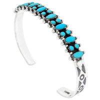 Sterling Silver Bracelet Turquoise B5528-C75