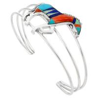 Sterling Silver Horse Bracelet Multicolor B5530-C00