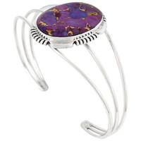 Sterling Silver Bracelet Purple Turquoise B5531-C77