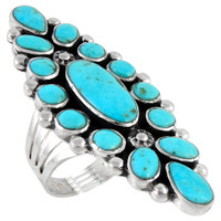 Sterling Silver Ring Turquoise R2283-C75