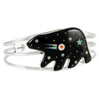 Sterling Silver Bear Bracelet Black & Opal B5540-C27