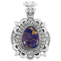 Sterling Silver Pendant Purple Turquoise P3077-C77