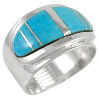Sterling Silver Ring Turquoise R2292-C05