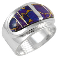 Sterling Silver Ring Purple Turquoise R2292-C07