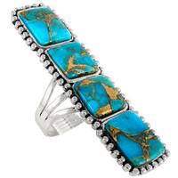 Sterling Silver Ring Matrix Turquoise R2311-C84
