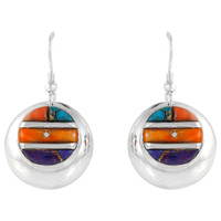Sterling Silver Earrings Multi Gemstones E1203-C51