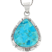 Sterling Silver Pendant Turquoise P3147-C75